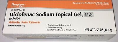 Arthritis Pain Topical Gel 100gm 3-53oz Tube- Exp 0422 or Later-