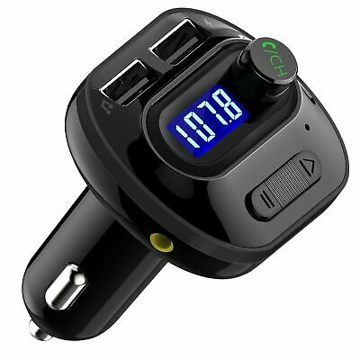 Wireless In-Car Bluetooth FM Transmitter MP3 Radio Adapter Car USB Charger 2021