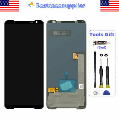 For Asus ROG Phone 3 ZS661KS ZS661KL OLED LCD Display Touch Screen Digitizer QC