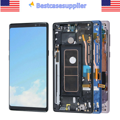 For Samsung Note 8 SM-N950 OEM LCD Display Touch Screen Digitizer Frame Assembly
