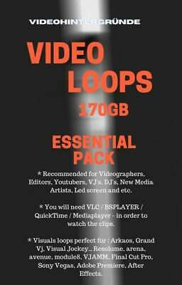 Video Loops Essential PaCk. 170 GB Recommended for Videographers, Editors,