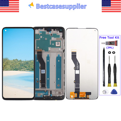 LCD Display Touch Screen Assembly ± Frame For Motorola G9 Plus G9- 2020 XT2087-1