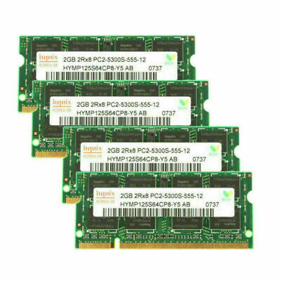 2GB For Hynix PC2-5300 DDR2-667 667Mhz 200pin PC5300 Laptop Memory Replacement