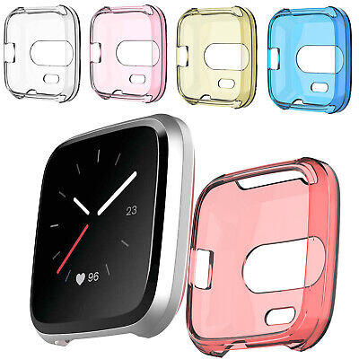 Watch Case Silicone Screen Protector Soft Cover Band TPU For Fitbit Versa Lite