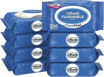 Cottonelle FreshFeel Flushable Wet Wipes for Adults8 Flip-Top PackAlcohol-Free