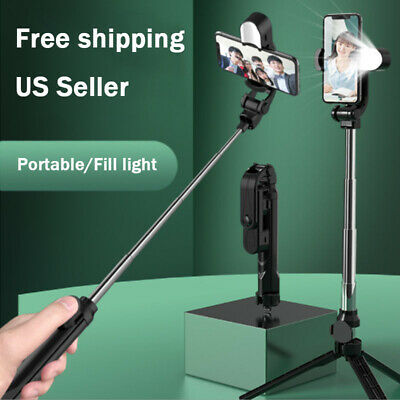 Selfie Stick Tripod Remote Stand Cell Phone For iPhone Samsung