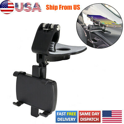 Car Dashboard Stand Rotating Cradle Clamp Clip For Cell Phone 360° Mount Holder