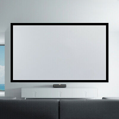 135 Aluminum Alloy Fixed Frame 169 Projector Screen White Home Theater Movies