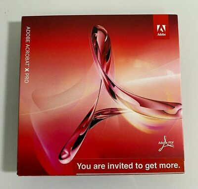 New Adobe Acrobat 10 X PRO for PC 2pc 1user NOT A subscription