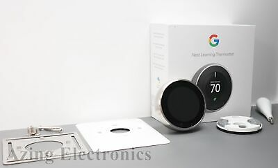 Google Nest 3rd Gen T3007ES Learning Thermostat - Stainless Steel