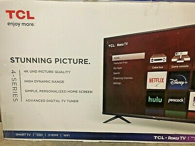 LOCAL PICK UP ONLY TCL 43TV 43S431 4K UHD HDR Roku Smart TV
