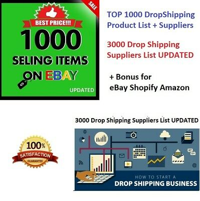 2 in 1 TOP 1000 DropShipping Product List and 3000 Drop Shipping Suppliers List