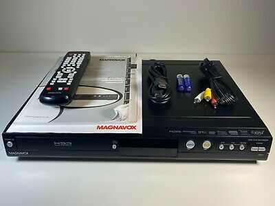 Magnavox MDR557HF7 1TB Hard DriveDVD HDD Recorder with RemoteCables - Tested