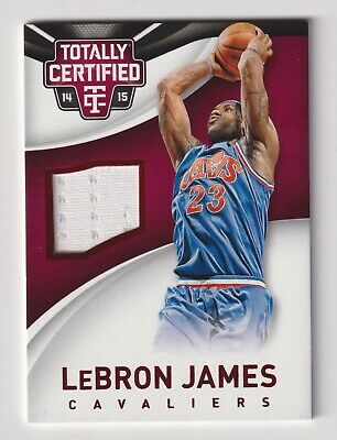 LEBRON JAMES 2014-15 TOTALLY CERTIFIED GAME WORN JERSEY CARD RED FOIL 249 RARE