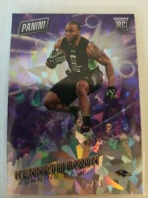 Kenneth Dixon 2016 Panini Fathers Day Rookie Purple Refractor ed25