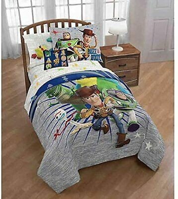 TOY STORY 4 TWIN FULL COMFORTER WOODY BUZZ FORKY - REX