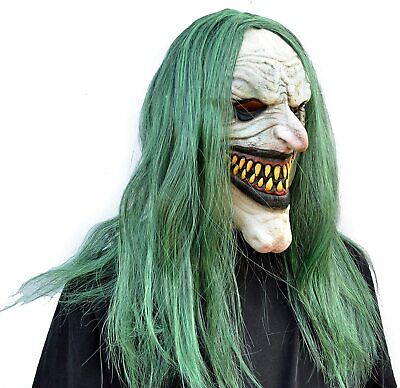 Halloween Clown Mask with Hair Costume Party Cosplay Jokester Clown