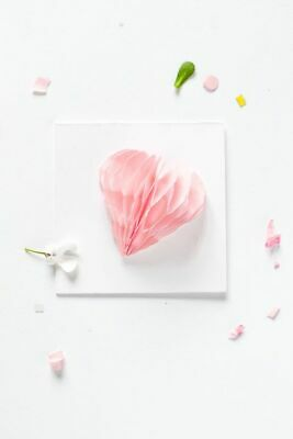 Valentines Day Card heart folding by paper handmade card