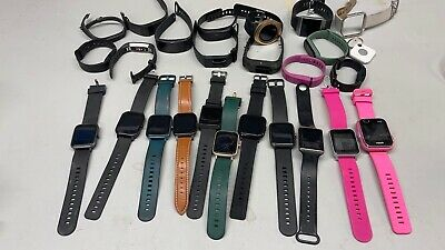 LOT OF 24 Smart Watch FitBit VivoFit other brands SEE PICS SOLD AS IS UNTESTED