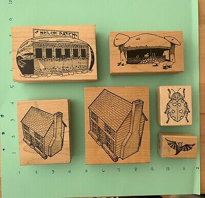 Stampa Barbara rubber stamps wood