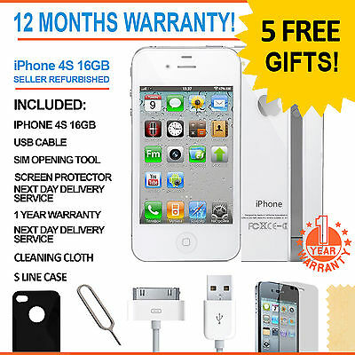 Apple iPhone 4S - 16 GB - White Unlocked Smartphone