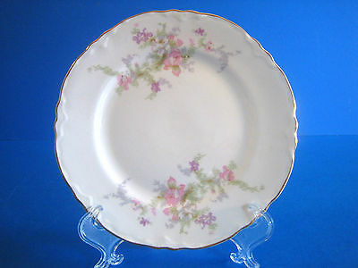 Bread  Butter Plate WS George Radisson Pink Lavender Flowers Gold Antique