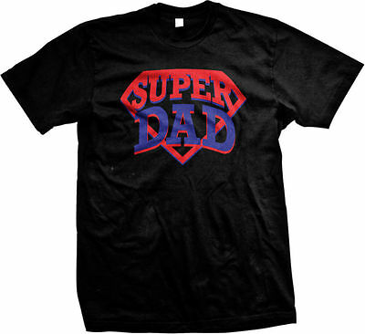 Super Dad Best Pop Daddy Fathers Day Funny Humor Novelty Gift Mens T-shirt