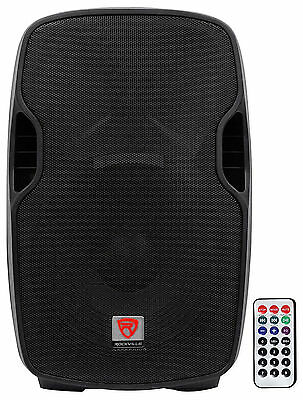 Rockville BPA15 15 Professional Powered Active 800w DJ PA Speaker w Bluetooth