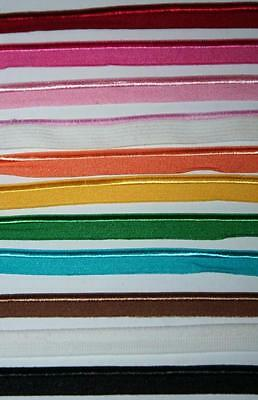 2 yards 1- Flat stretch piping elastic sewing trim lingerie 38 black white