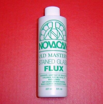 8 oz  Novacan Old Masters FLUX for Copper Foil Solder and Lead Stained Glass