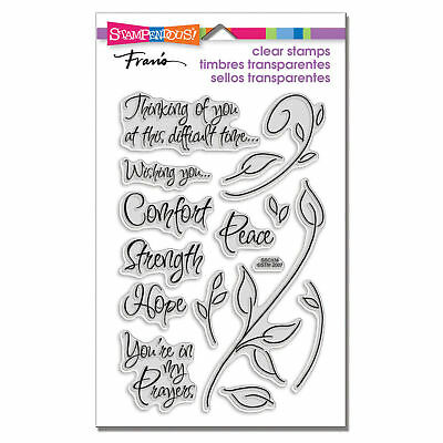 Encouraging Words Bereavement Clear Acrylic Stamp Set by Stampendous SSC134 NEW