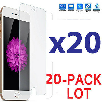 20x Wholesale Lot Tempered Glass Screen Protector for Apple iPhone 7 Plus