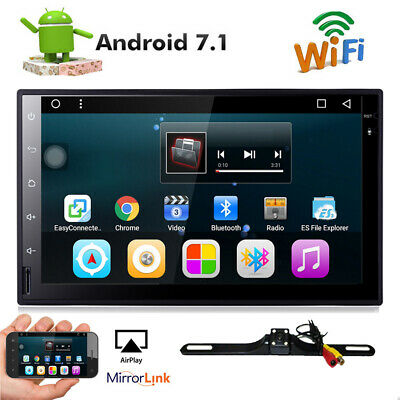 7 Smart Android 4-4 3G WiFi Double 2DIN Car Radio Stereo DVD Player GPS-Camera