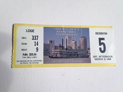 1996 SEC TOURNAMENT RARE TICKET STUB KENTUCKY WILDCATS BASKETBALL RARE LOSS