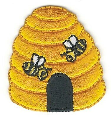 1 12 x 1 58 Yellow Beehive Embroidery Patch