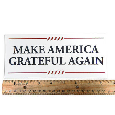 Grateful Dead - Make America Grateful Again - Bumper Sticker 3½X8½