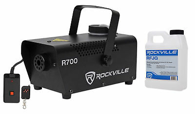 Rockville R700 FogSmoke Machine w Remote-Fluid Quick Heatup Thick Fog