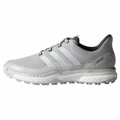 Adidas Mens Adipower Sport Boost 2 Solid Grey  White  Golf Shoes