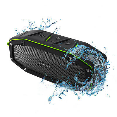 Rockville RPB27 20w Rugged Portable Waterproof Bluetooth Speaker w Bumping Bass