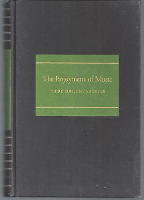VINTAGE BOOK The enjoyment of music by J- Machlis 3RD EDITION  1963