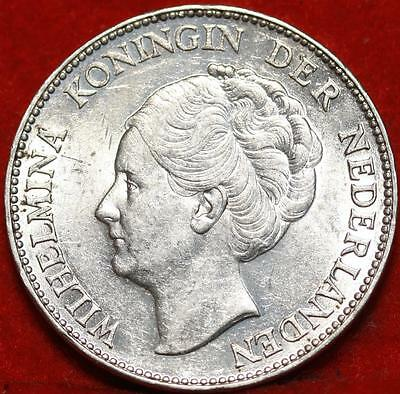 1939 Netherlands 1 Gulden Silver Foreign Coin Free SH