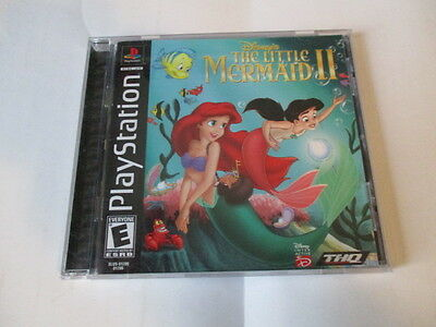 THE LITTLE MERMAID 2 Sony PlayStation 1 2000 BLACK LABEL With Booklet