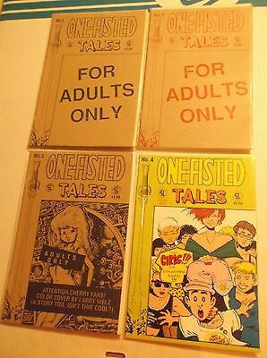 ONE-FISTED TALES  1 2 3 4 SET  LOT  RUN