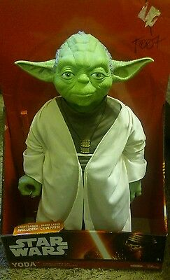 New Star Wars Yoda 18 Inch Poseable Action Figure With Lightsaber Jakks Pacific