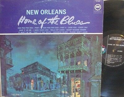 NEW ORLEANS HOME OF THE BLUES COMPILATION LP 60S MINIT STEREO VG- VINYL