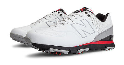 New Balance 574 Golf Shoes WhiteRed 12 X-Wide