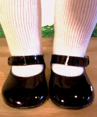 BLACK PATENT SHOES Fits 18 American Girl Doll 18 Inch Dolls