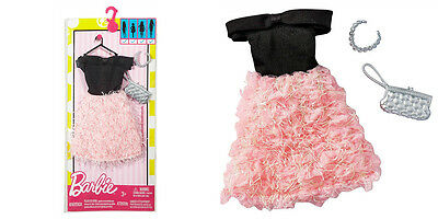 Barbie Doll Fashionistas Clothing Pack Fashion Outfit Pink - Black Party Dress