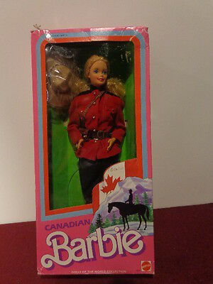 Barbie Dolls of The World-Canadian In Box Mattel 1987  DOLL CLOSEOUT SALE