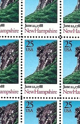 1988 - NEW HAMPSHIRE STATEHOOD - 2344 Mint -MNH- Sheet of 50 Postage Stamps